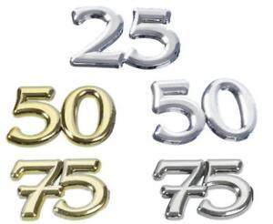 Streuteile Zahlen Deko Hobbyfun Tischdeko Jubilaum 25 50 75 3451