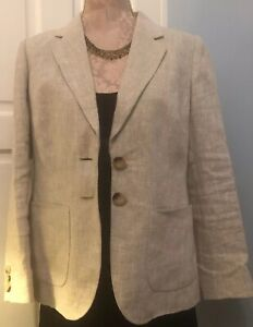 Austin Reed By Royal Appointment Blazer Jacket Pure Linen 14 New Ebay