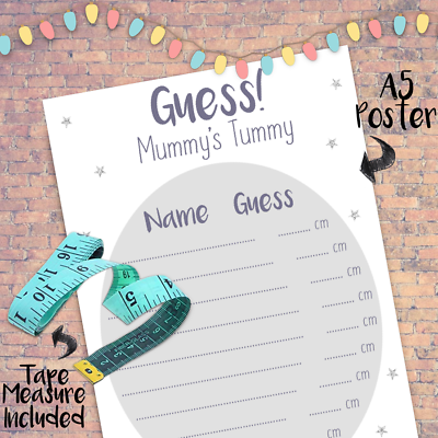 Mum to be Baby shower Measuring Tape Game