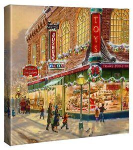 Thomas Kinkade Studios A Christmas Wish Lionel Train 14 x 14 Wrapped Canvas