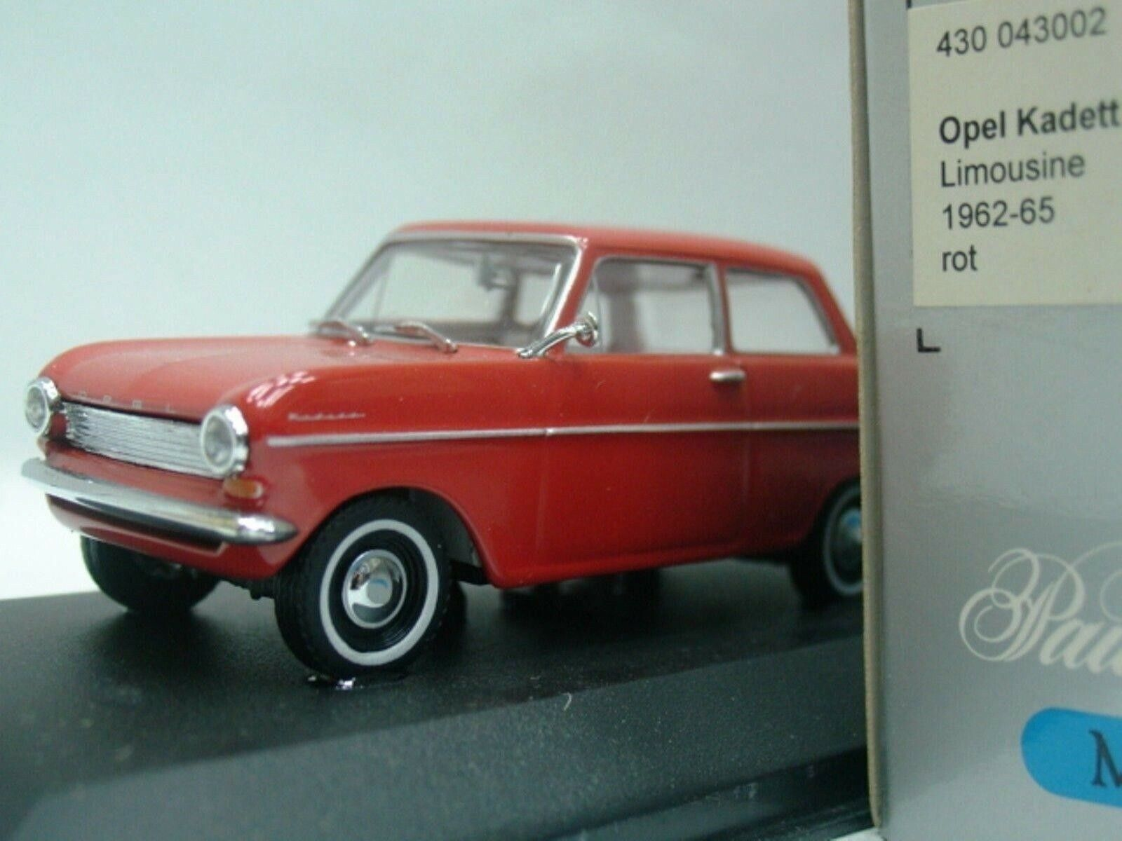 WOW EXTREMELY RARE Opel Kadett A Sedan 2d 1962 Corall Corall Corall Red 1 43 Minichamps-Rekord b69167