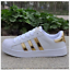 New-Women-039-s-Fashion-Leather-Casual-Lace-Up-Sneakers-Trainer-Shoes-Superstar