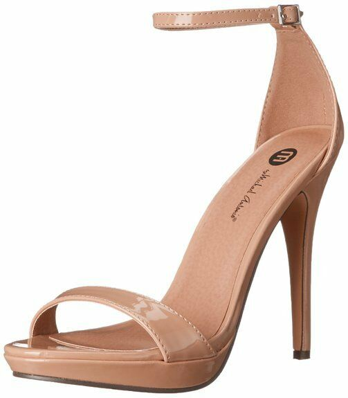Nude Stiletto Heels Open Toe Ankle Ankle Ankle Strap Beige 4.5 Inch Pumps Sandals Cheap New fc5a72
