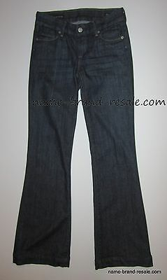 CITIZENS OF HUMANITY FAYE Jeans Womens 24 DARK WASH Low Rise Full Leg Trouser