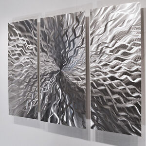 Wonderful Image Is Loading Modern Abstract Metal Wall Sculpture  Art Contemporary Painting