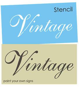 Image Is Loading French Script Stencil Vintage Fancy Font Shabby Garden
