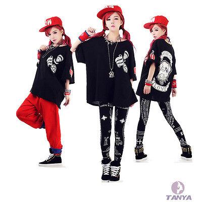 Punk Hip-Hop Harajuku style Printing Loose Increase Woman Short sleeve T-shirt