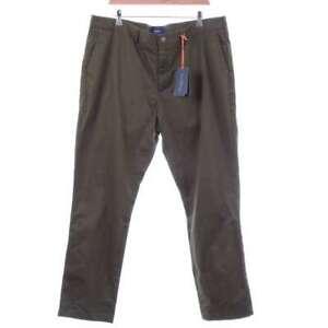 NEW-Spoke-London-Hand-Finished-Green-Trousers-Size-W40-L31