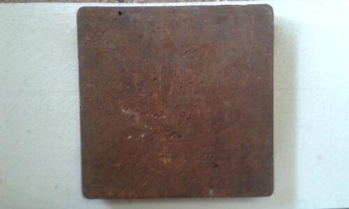 12,10kg Richtplatte  Amboss Schmiedewerkzeuge Stahlplatte DDR-Werkunterricht