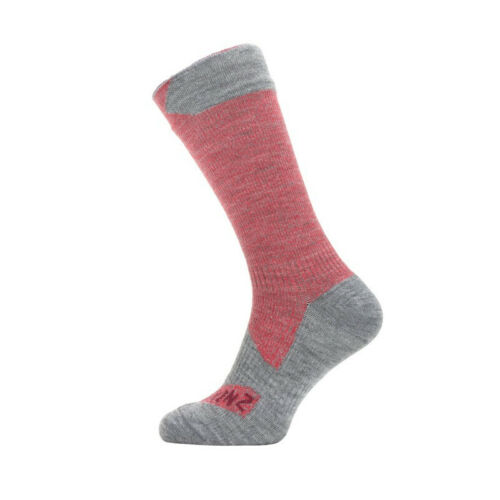 1 paire Sealskinz Chaussettes All Weather Mid Length taille S 36-38 rouge//gris