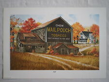 "MAIL POUCH OLD COUNTRY BARN & FARM HOUSE ""FALL"" ARTIST SIGNED WALL ART PRINT"