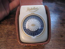 GREAT VINTAGE EKM ROTOLUX LIGHT METER IN LEATHER CASE