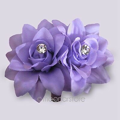 Fashion Elegant Woman Lady Flower Hair Clip Hairpin Brooch for Bridal Girls Gift