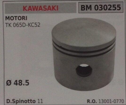 130010770 PISTONE COMPLETO SEGMENTI PER MOTORE KAWASAKI TK 065D KC52 Ø 48.5