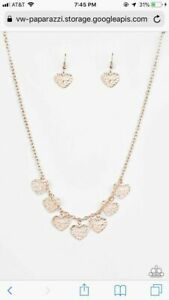 Paparazzi Less Is Amour Rose Gold Heart Necklace Rm 139 Ebay