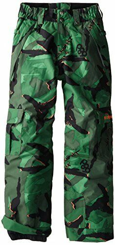 Green Camo L 686 Boys Ridge Snowboard Pant
