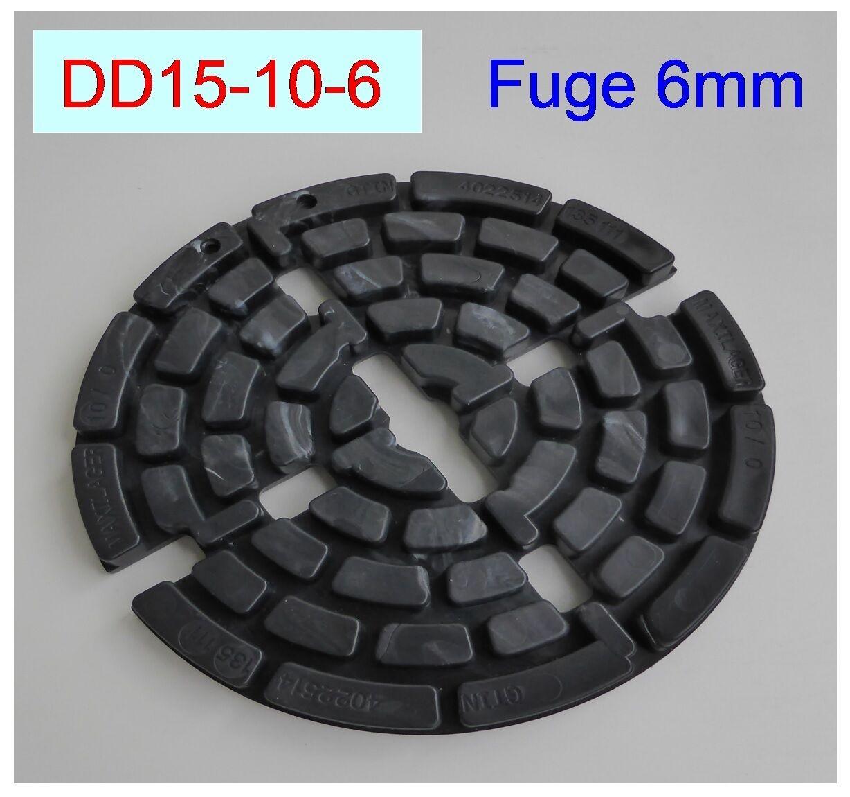 240 Plattenlager DD15-10-6, Höhe 10mm, 6mm Fuge,Stege 10mm,teilbar ,f.Terrasse,,