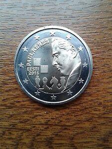 "pièce neuve estonie 2 euros 2016 ""paul keres"""