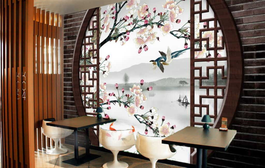 3D Lake, fish 3465 Wall Paper Wall Print Decal Wall Deco Indoor Wall Murals