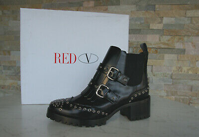 Red Valentino Size 40 Ankle Boots Biker