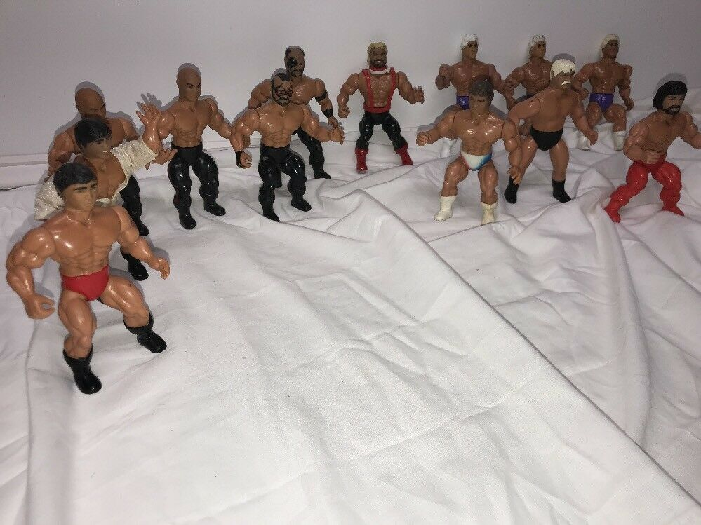 Vintage AWA Remco Wrestling Figure Lot of 13 Wrestlers Figures WWE Mat Mania