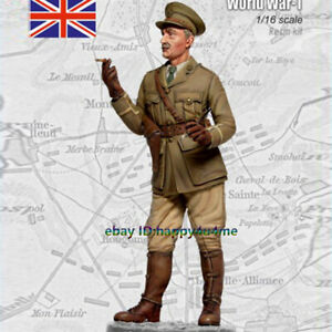 Unassembled-1-16-WW1-England-Officer-Garage-Kits-Resin-Figure-Unpainted-Model