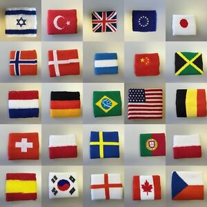 FAHNE-FLAGGE-SCHWEIssBAND-WRISTBAND-ARMBAND-FUSSBALL-WM-EM-EUROPA-RUSSLAND-2018