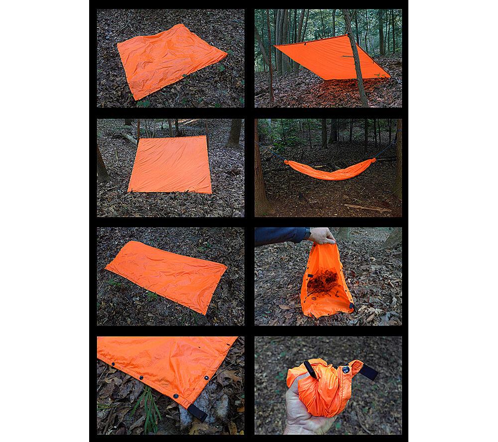 Esee Survival Panel High Visibility Orange Tarp 60x60 inch Tarp Orange Shelter Rescue Signal a9e423