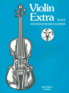 VIOLIN-EXTRA-BOOK-2-Sheet-Music-Book-Songbook-44-Tunes-For-Beginner-Shop-Soiled