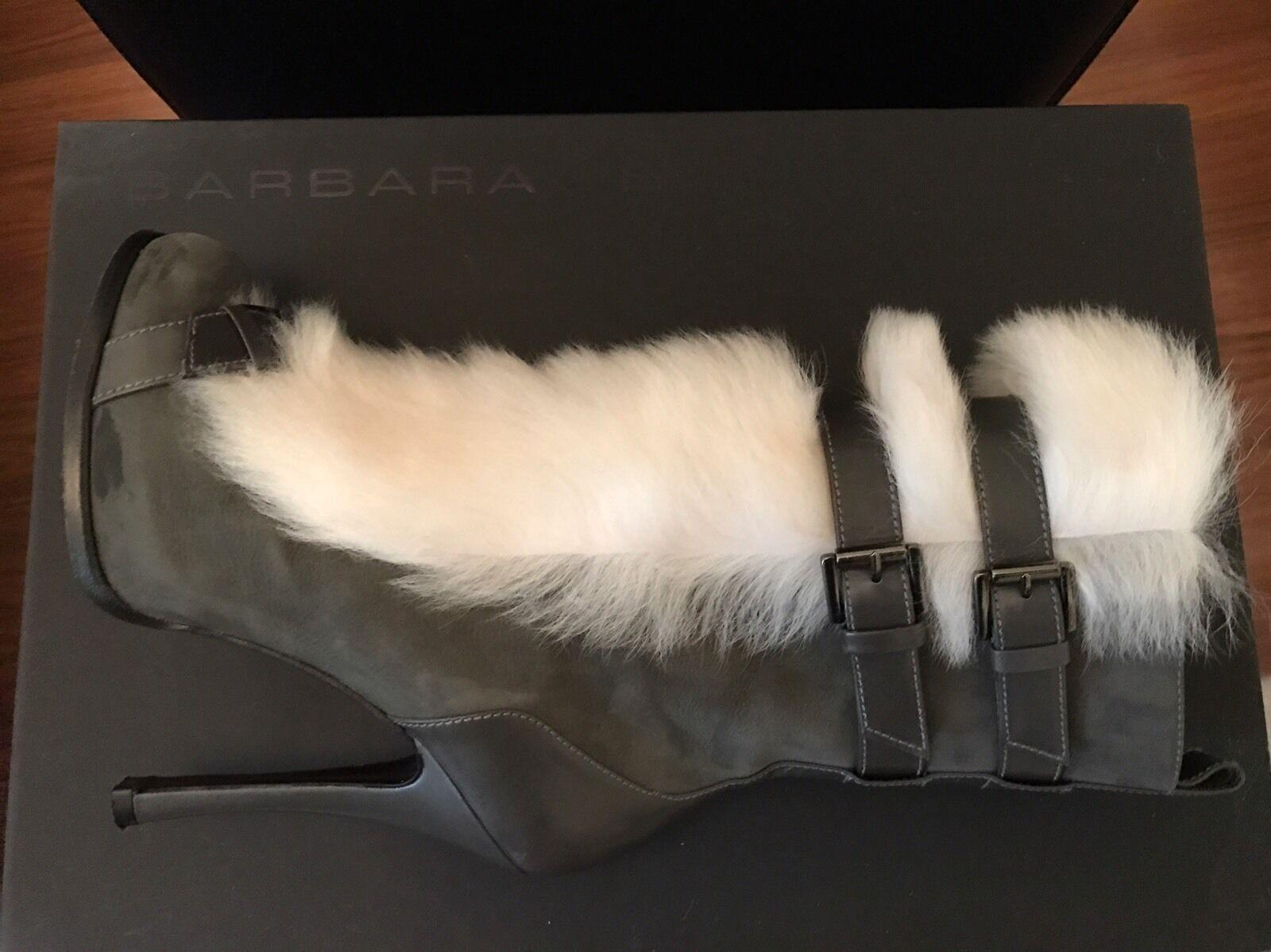 Designer Luxus Stiefel Barbara Bui mit Fell