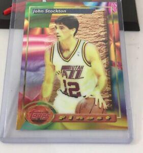 John-Stockton-Topps-Finest-1994-Card-219-Utah-Jazz
