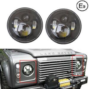 Negro-Par-7-034-LED-Proyector-Faro-Para-Land-Rover-Defender-para-recorrer