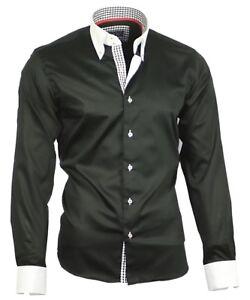 Das Bild wird geladen Herrenhemd-Herren-Hemd-Satin-Baumwolle-Binder-de-Luxe- d8f045570f