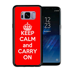 Red Keep Calm and Carry On For Samsung Galaxy S8 Plus + 2017 Case Cover by Atomi