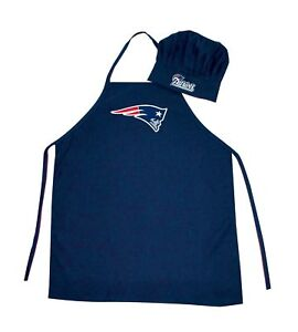NEW-ENGLAND-PATRIOTS-APRON-amp-CHEF-039-S-HAT-for-BARBECUE-GAME-DAY-TAILGATING-NFL