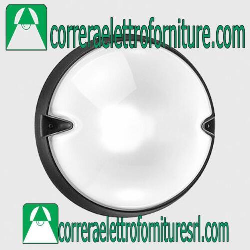 Plafoniera rotonda vetro parete soffitto esterno PRISMA CHIP 30 nero E27 005823