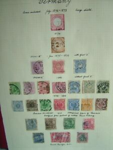Early German stamps postal ephemera letters old stamp collection philately