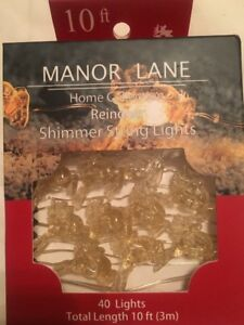 Manor Lane 10 Ft Gold Shimmer Reindeer Christmas Flexible