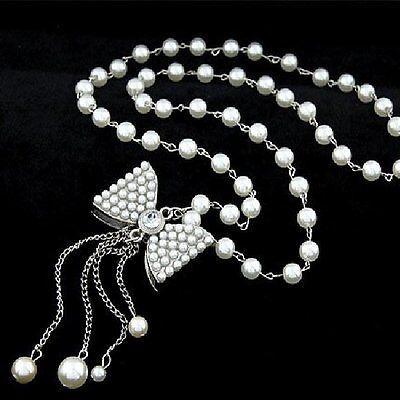 collier perle couleur argent
