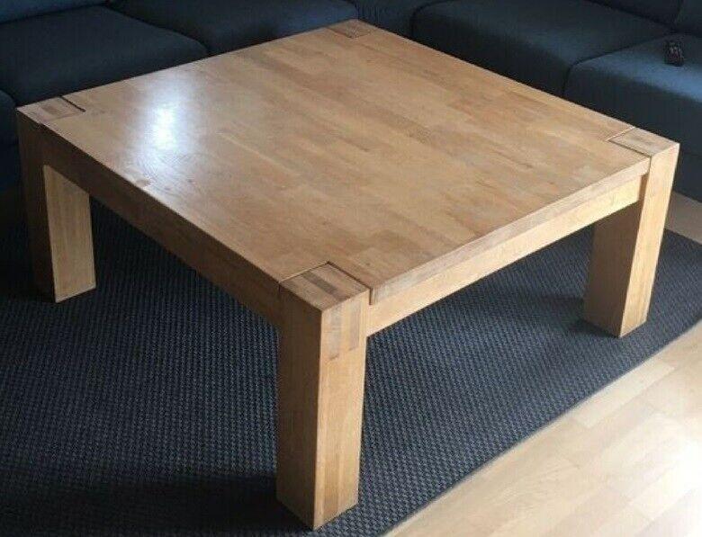 Sofabord, egetræ, b: 115 l: 115