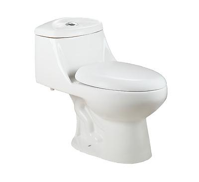 Soft-Close One Piece White Ceramic Toilet LT2T