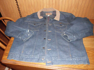 Men-039-s-Vintage-Wrangler-Wool-Blanket-Lined-Blue-Denim-Jean-Jacket-Sz-48-L-USA