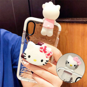 Cute-Hello-Kitty-Doll-Airbag-Holder-Stand-Case-Cover-for-iPhone-XS-Max-XR-6-7-8