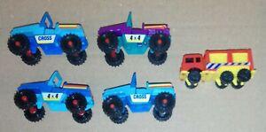 U-Ei-Freizeit-auf-Raedern-1993-Feuerwehr-und-Jeep-1992-kleines-Konvolut