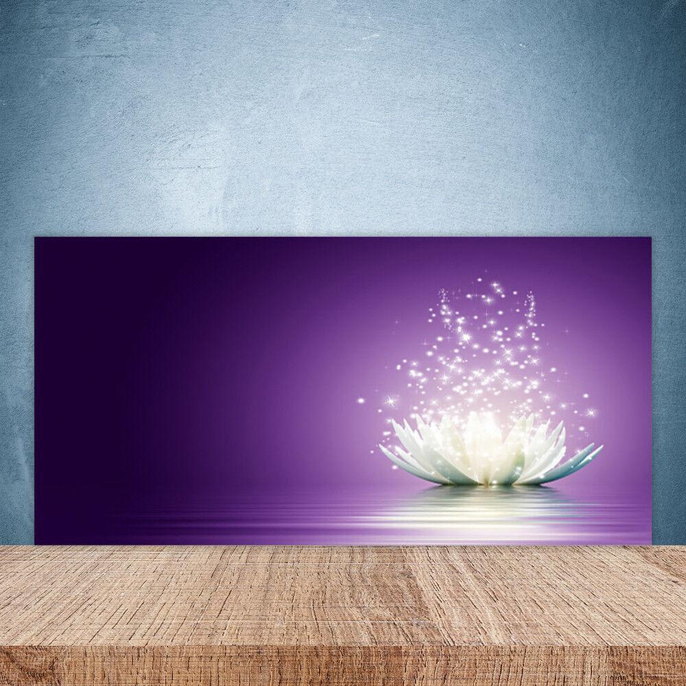 Crédence de cuisine en verre Panneau Paroi 100x50 Floral Lotus