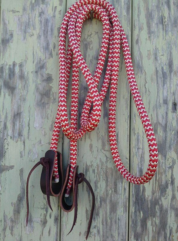 9ft Loop Reins with Water Straps - choice of colour- made by Natural Equipment
