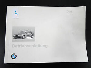 Orig-BMW-3er-E36-Handbuch-Betriebsanleitung-Bedienungsanleitung-Bordbuch-1996