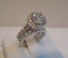 ETERNITY LADIES WEDDING RING & BAND /SZ 5-9 /925 STERLING SILVER W/ 6 CT DIAMOND