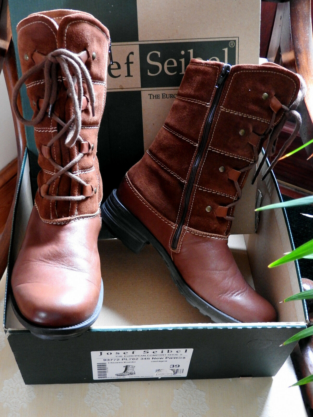 Nueva Marca  Josef Seibel Damas Talla Talla Talla 6 (EUR 39) botas con forro de piel de cordero 95c8b1