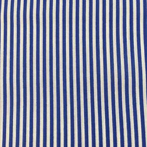 Image Is Loading Narrow Stripes Royal Blue Amp White Printed Poly